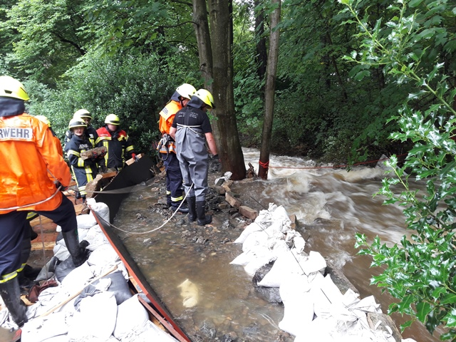 Hochwassereinsatz in Bad Harzburg
