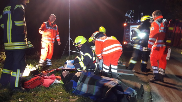 Rettung mehrerer Personen stellt sich als Übung heraus