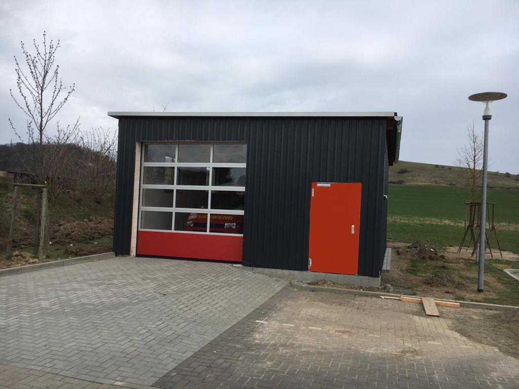 Neubau einer Garage in Eigenleistung abgeschlossen